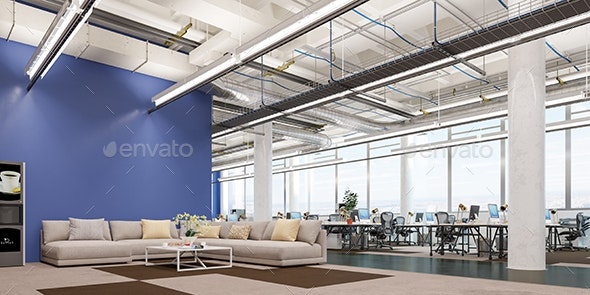 Office Workplace. 3d Illustration - Architecture 3D Renders