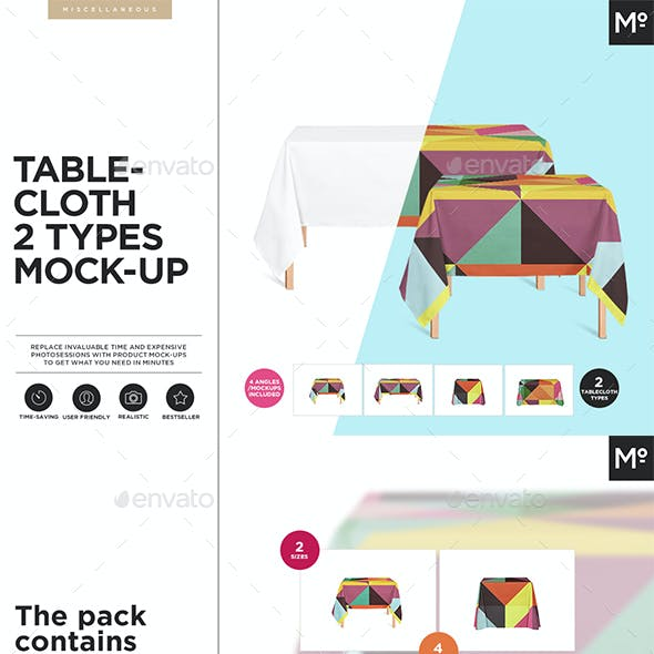 Tablecloth 2 Types Mock-ups Set