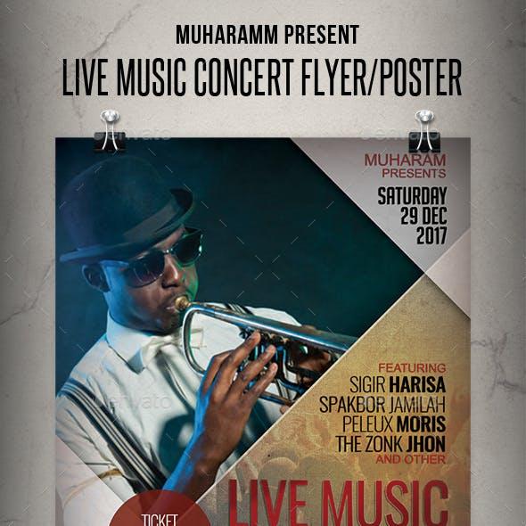 Live Music Concert Flyer / Poster