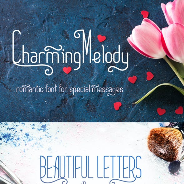 CharmingMelody| Romantic Curly Font