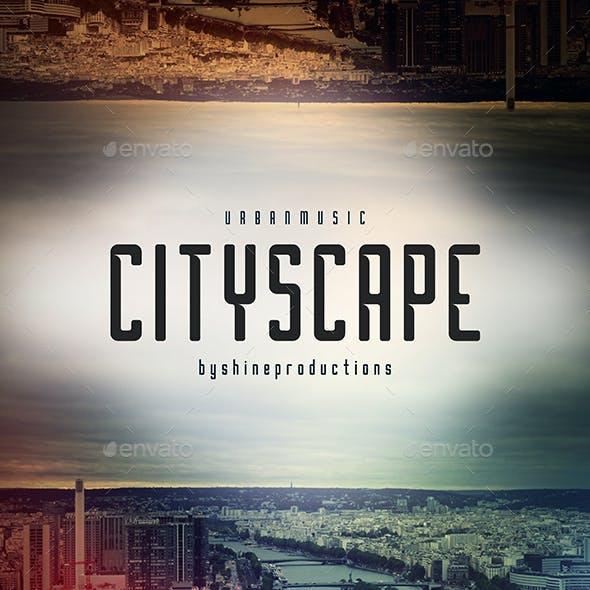 Cityscape - Music Web Cover Template