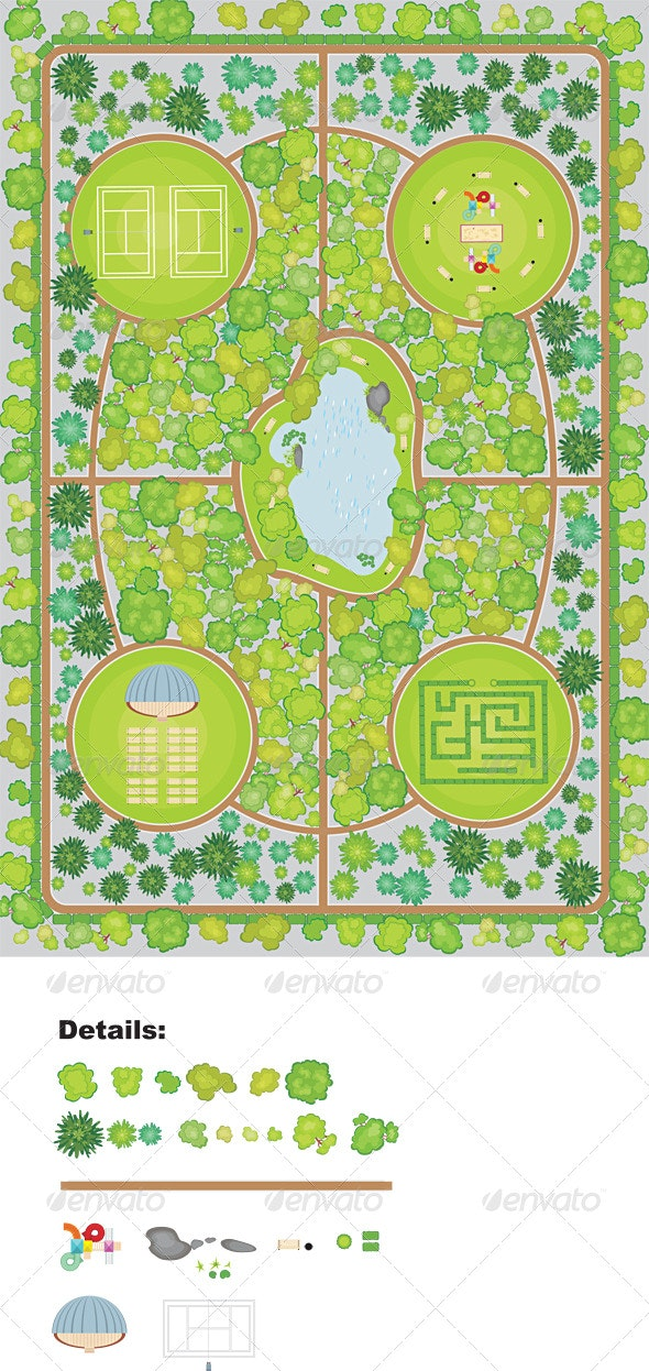 Park plan - Flowers & Plants Nature