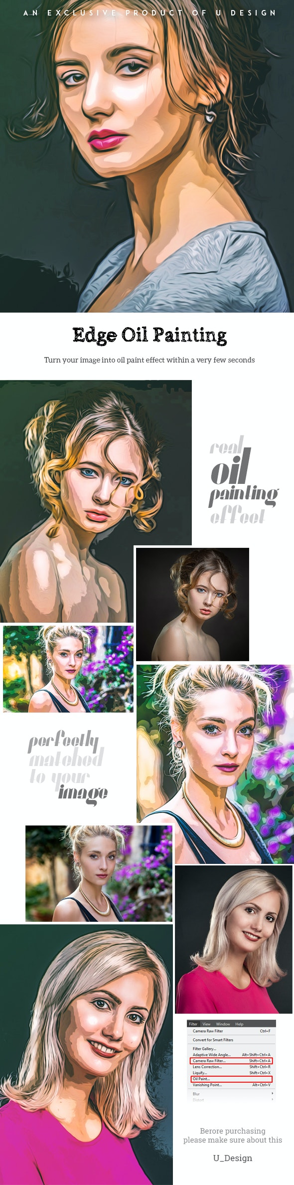 Edge Oil Painting - Photo Effects Actions