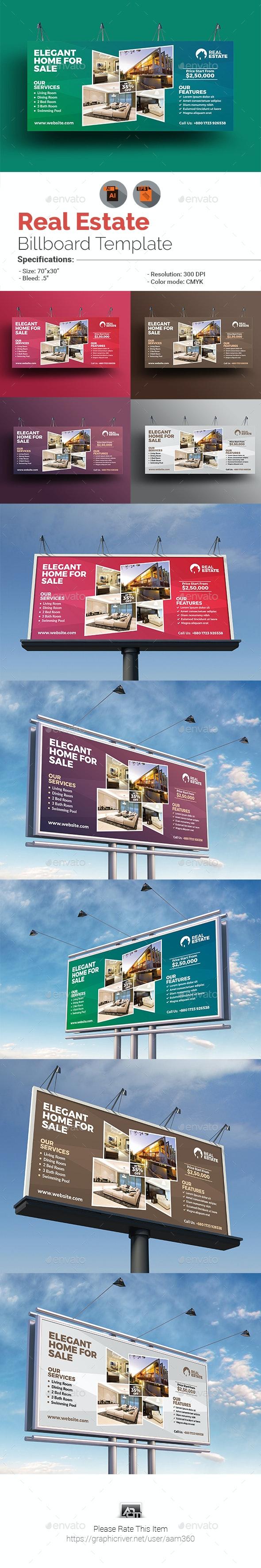Real Estate Billboard Template - Signage Print Templates
