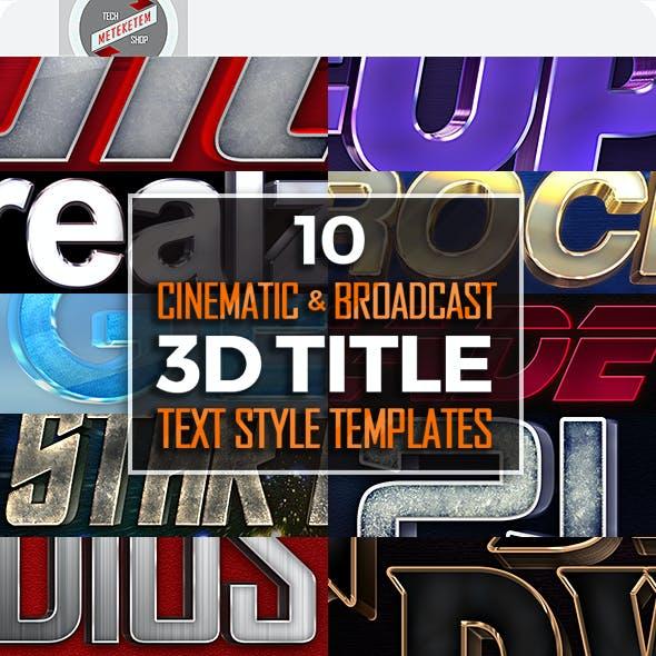 Pro Film/TV 3D Title Templates 1