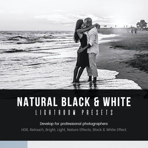 Natural Black & White Lightroom Presets