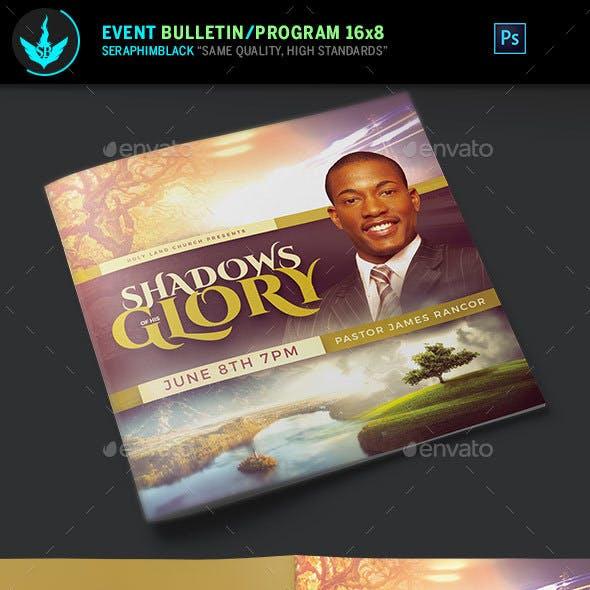 Shadows of His Glory Church Bulletin Template