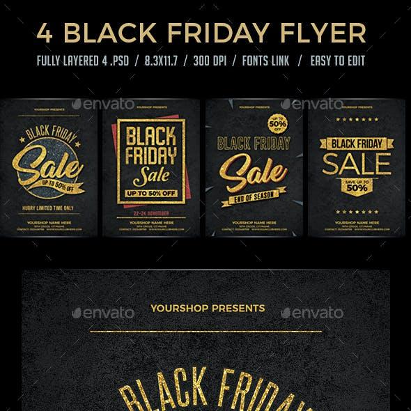 4 Black Friday Sale Flyer Set