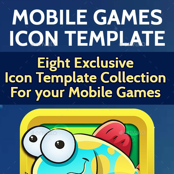 Mobile Game Icon Templates for iOS & Android