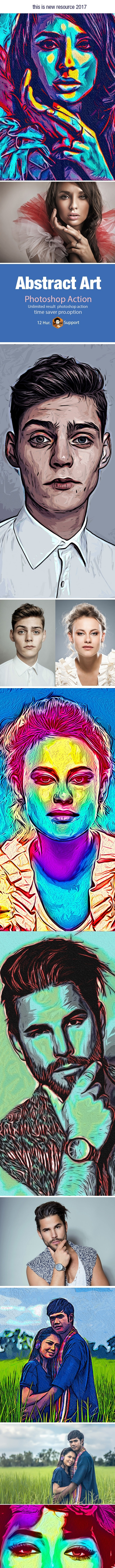 Abstract Art Action - Photo Effects Actions