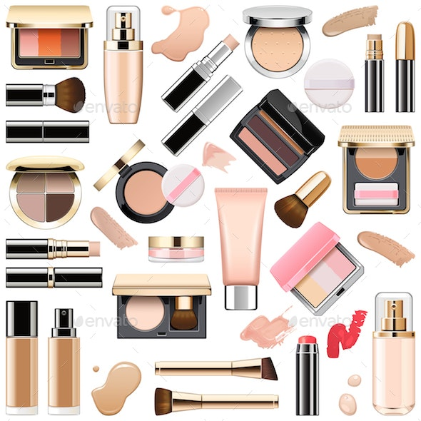 Vector Face Makeup Cosmetics - Retail Commercial / Shopping