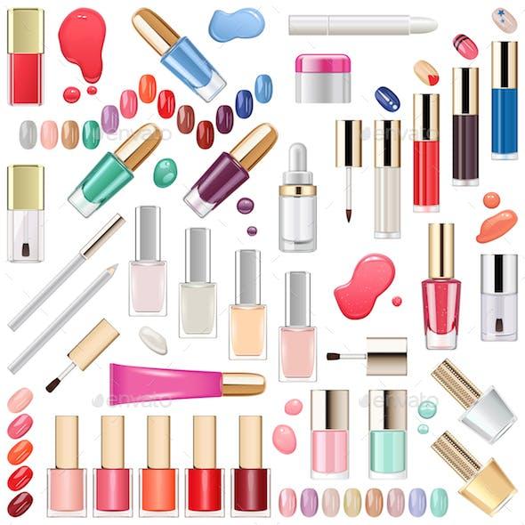 Vector Nails Makeup Cosmetics