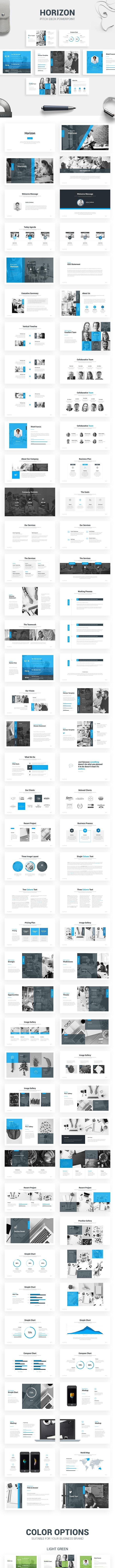 Horizon - Pitch Deck Template - Pitch Deck PowerPoint Templates