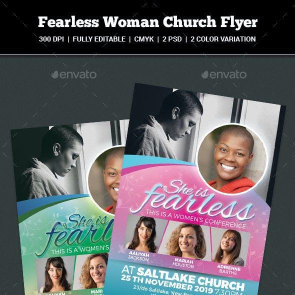 Fearless Woman Church Flyer