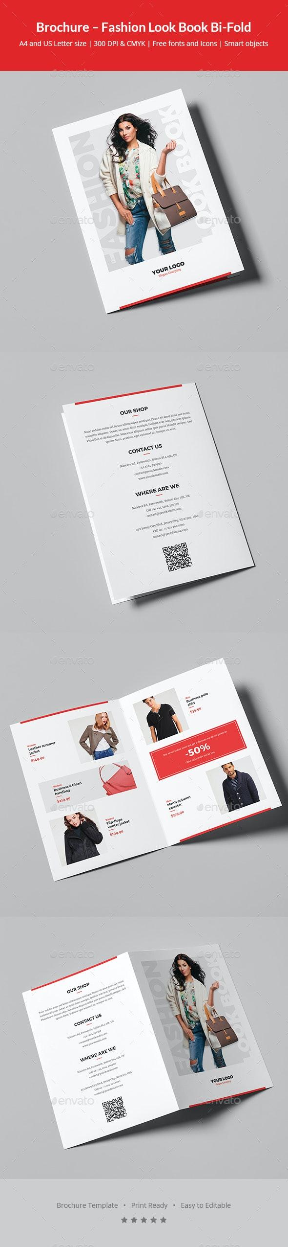 Brochure – Fashion Look Book Bi-Fold - Informational Brochures