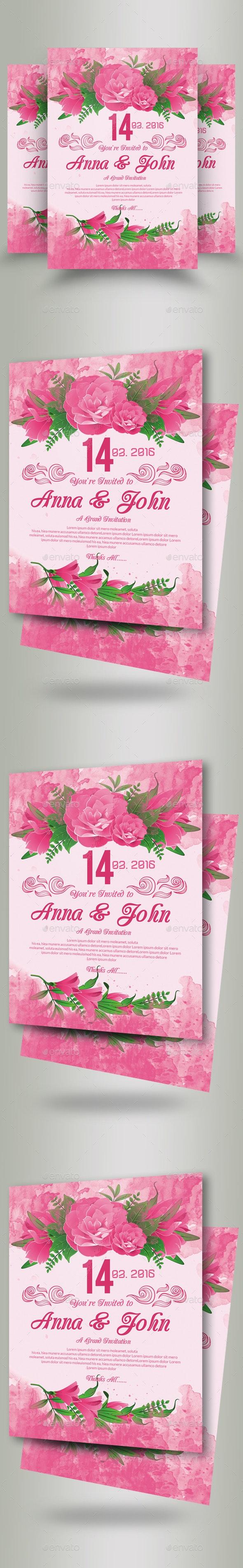 Wedding Invitation Flyer Template - Flyers Print Templates