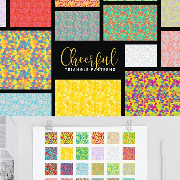 30 Cheerful Triangle Patterns