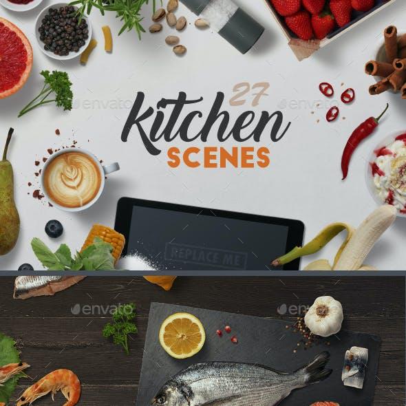 27 Kitchen Scenes