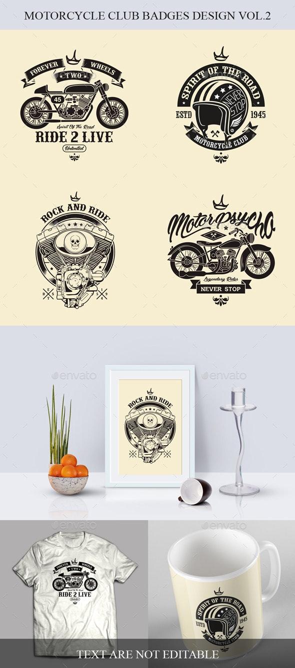 Motorclycle Club Badges Design Vol.2