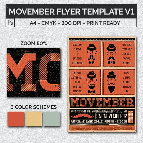 Movember Flyer Template V1