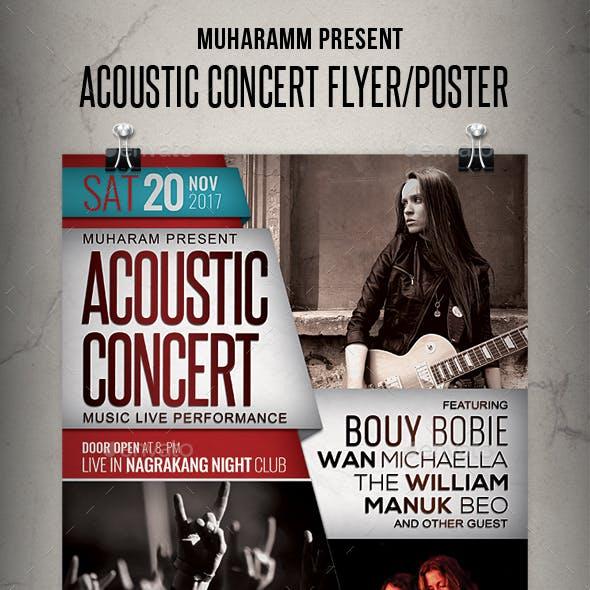 Acoustic Concert Flyer / Poster