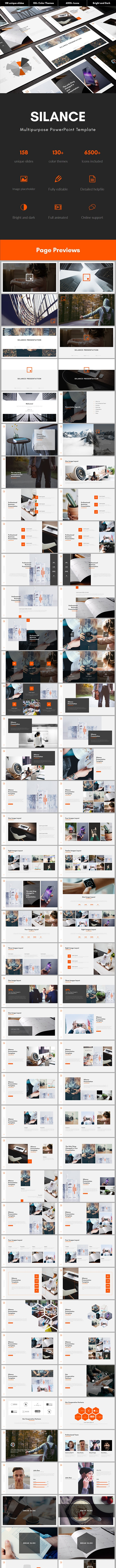 Silance Multipurpose PowerPoint Template - Business PowerPoint Templates