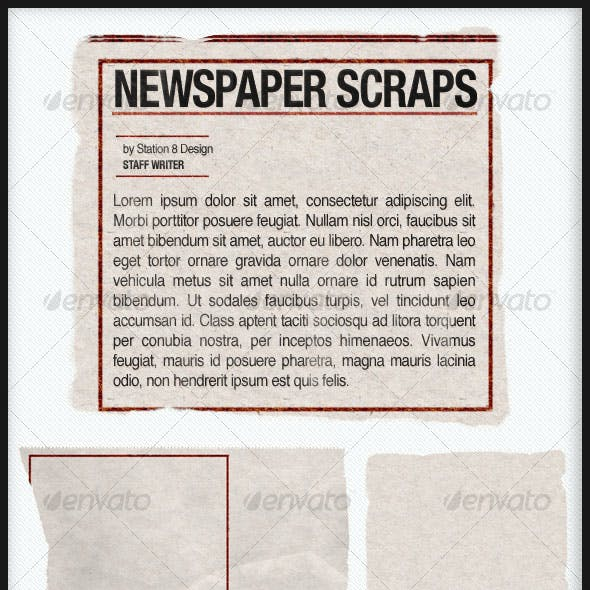 NEWSPAPER PIECES PACK v1