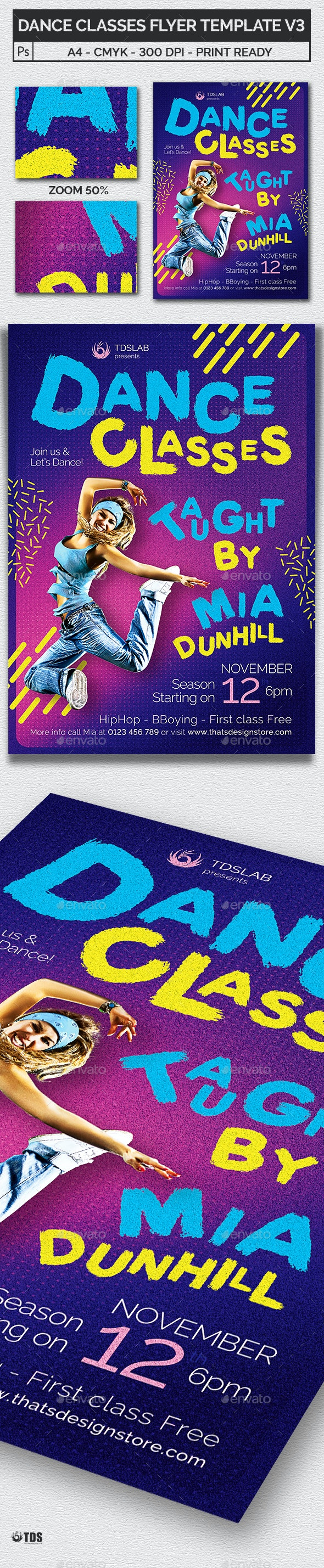 Dance Classes Flyer Template V3 - Sports Events