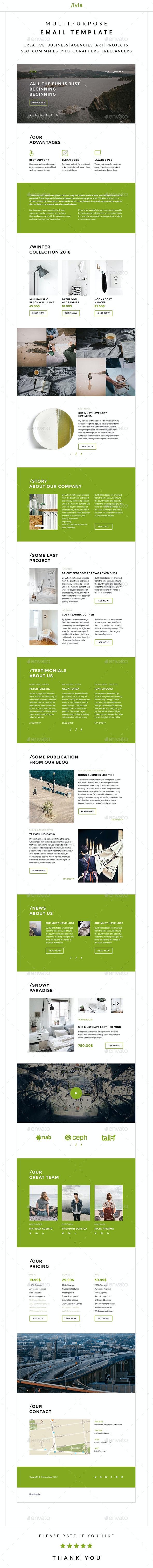 Livia – Multipurpose Email Template