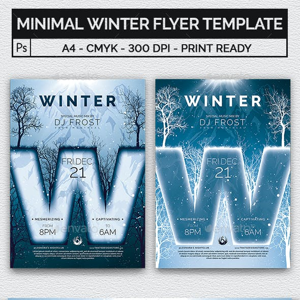 Minimal Winter Flyer Template