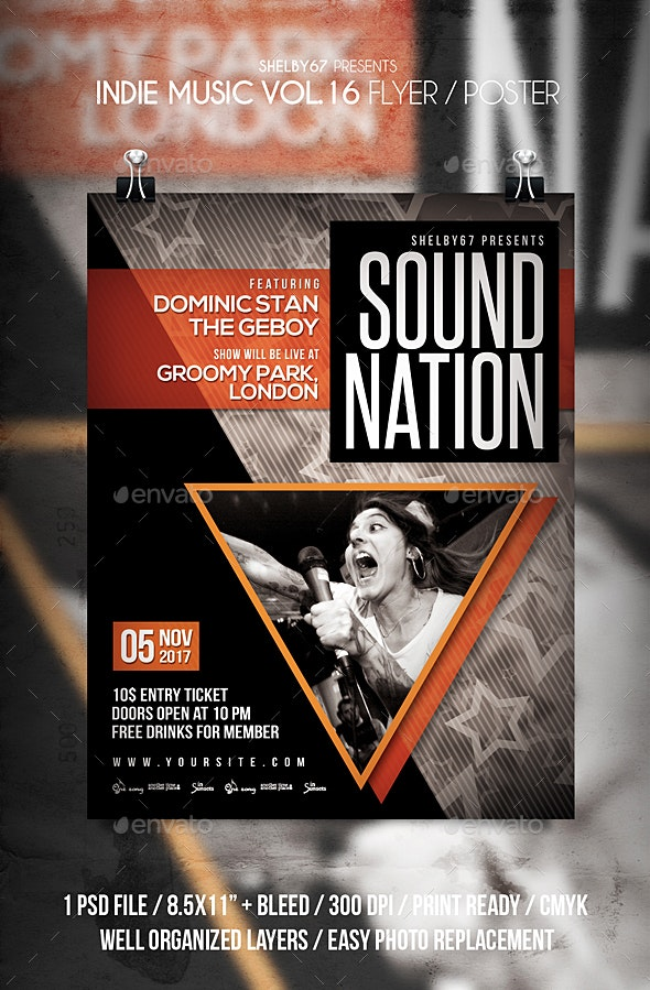 Indie Music Flyer / Poster Vol 16 - Events Flyers
