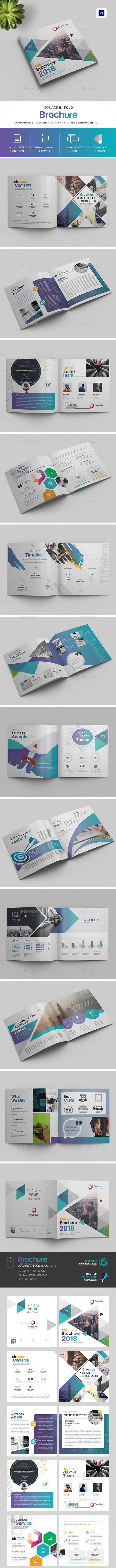 Square Bi-Fold Brochure - Brochures Print Templates
