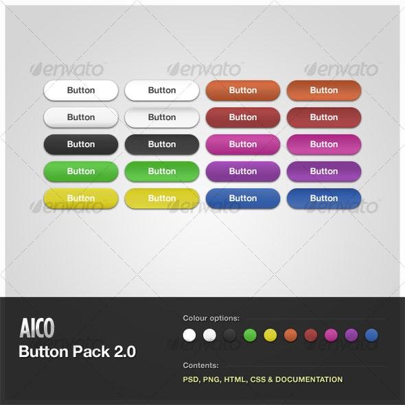 AICO Button Pack 2.0 - Buttons Web Elements