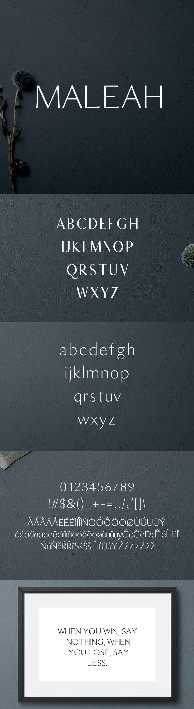 Maleah Sans Serif 4 Font Family Pack - Sans-Serif Fonts