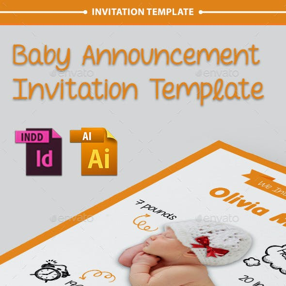 Baby Announcement Template - Vol.7