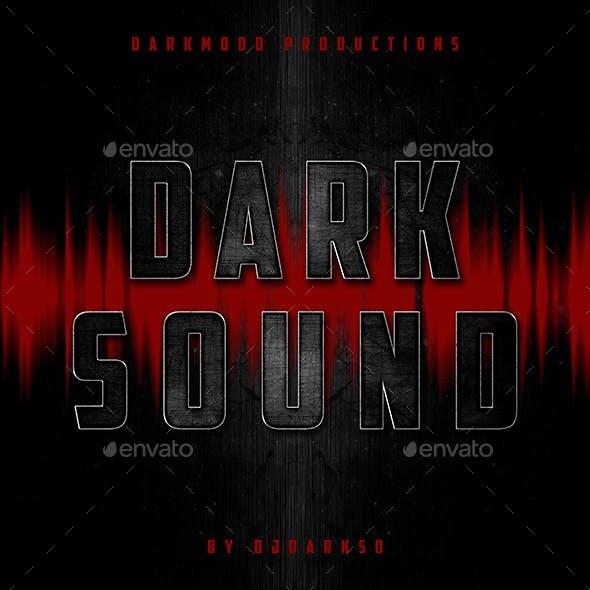 Dark Sound - Music Cover Web Template