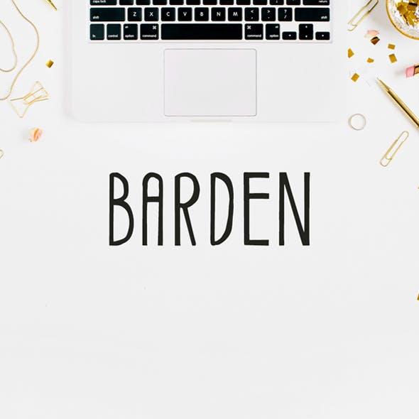 Barden Handmade Font