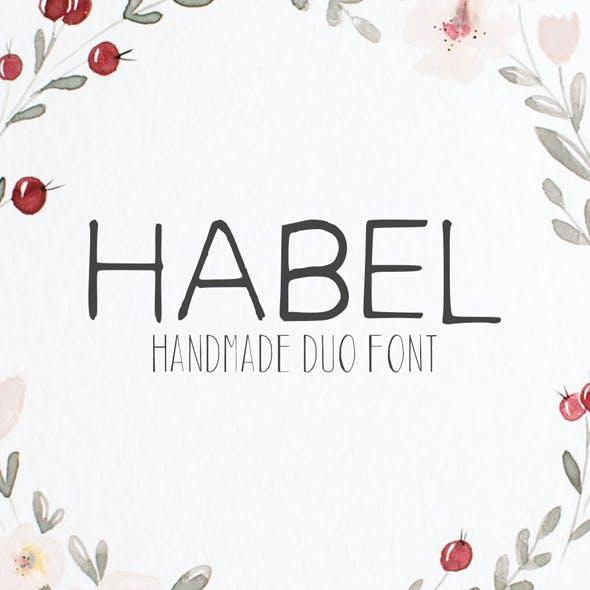 Habel Handmade Duo Font