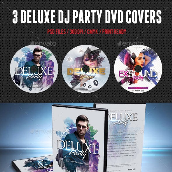 Deluxe Dj Party DVD Covers Bundle