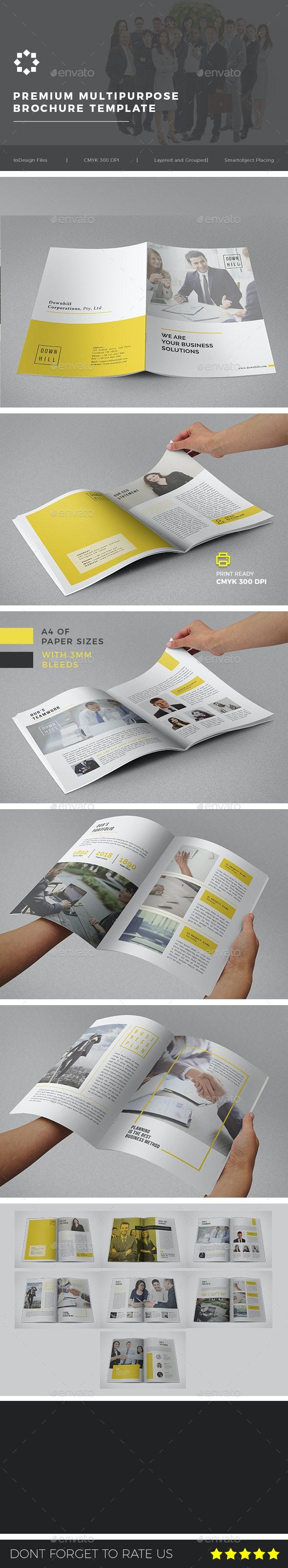 Multipurpose Corporate Brochure Template Vol. 02 - Brochures Print Templates
