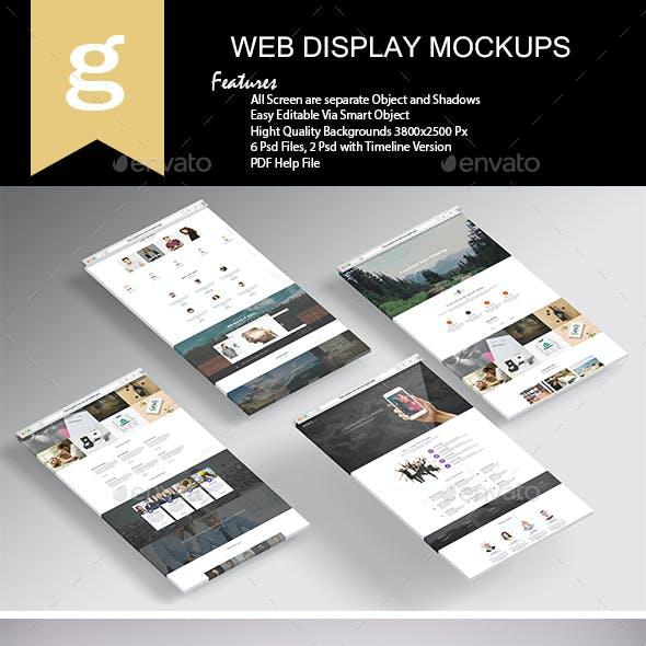 3D Web Display Mock-Up