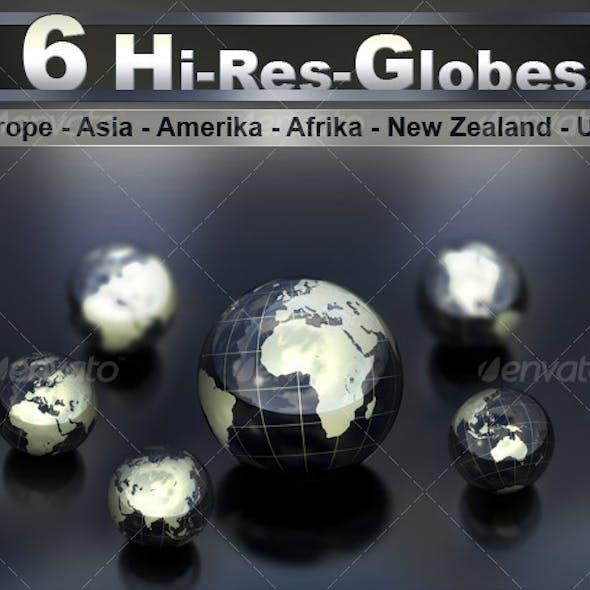 6 Hi Res Globes