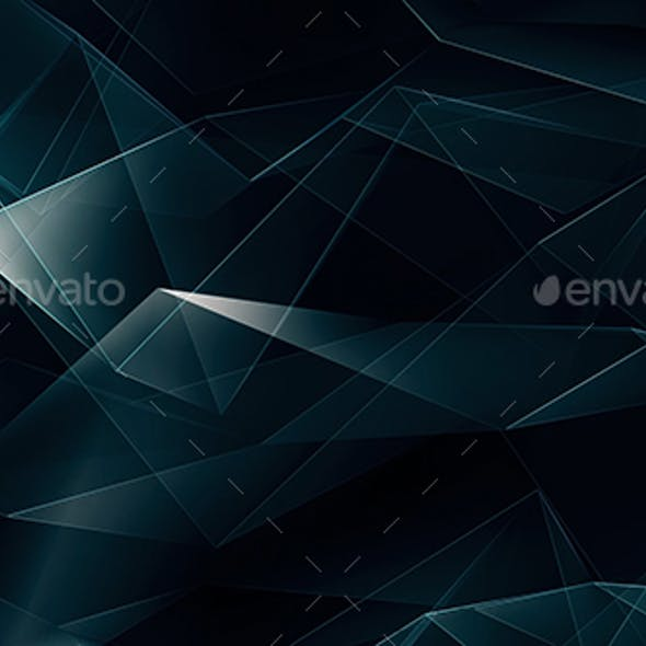 Dark Blue Tech Polygonal Background