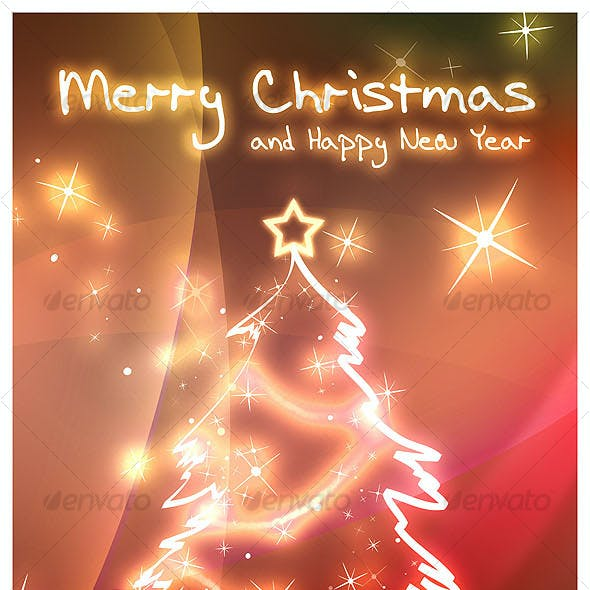 Christmas and New Year holiday card