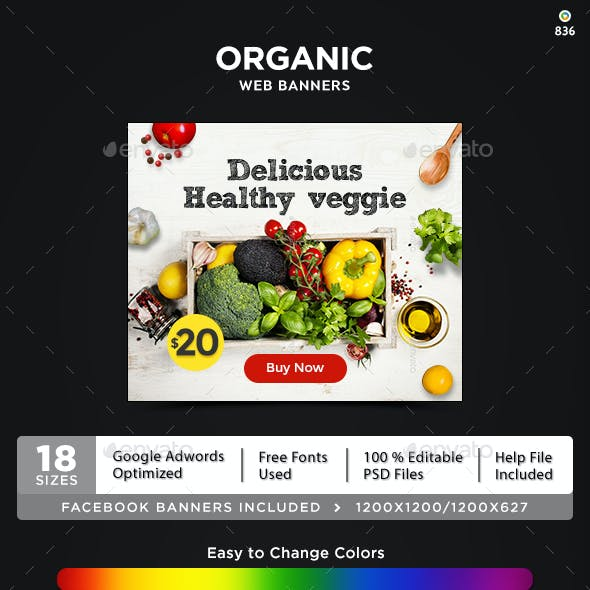 Organic Product Banners