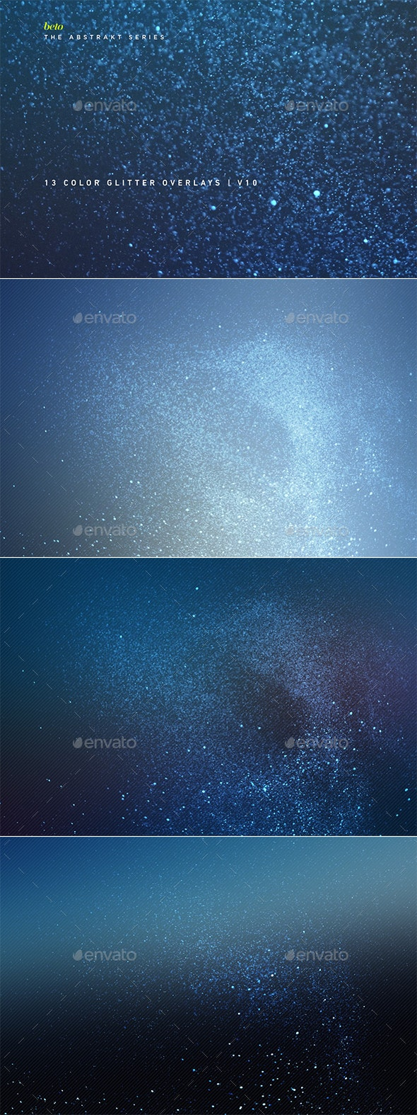 Color Glitter Overlays V10 - Abstract Backgrounds