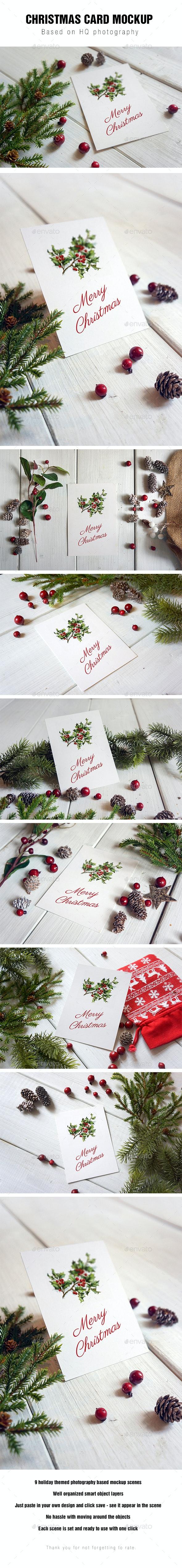 Christmas Card Mockup - Miscellaneous Print