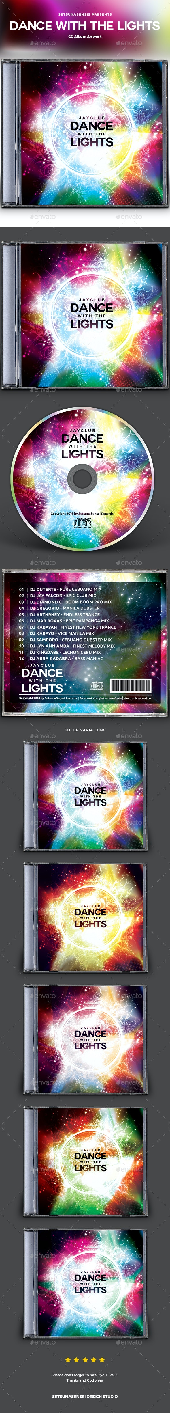 Dance with the Lights CD Album Artwork - CD & DVD Artwork Print Templates