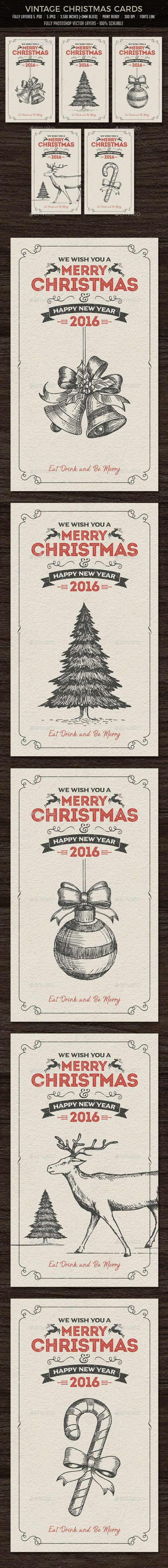 Christmas Cards / Invitation - Cards & Invites Print Templates