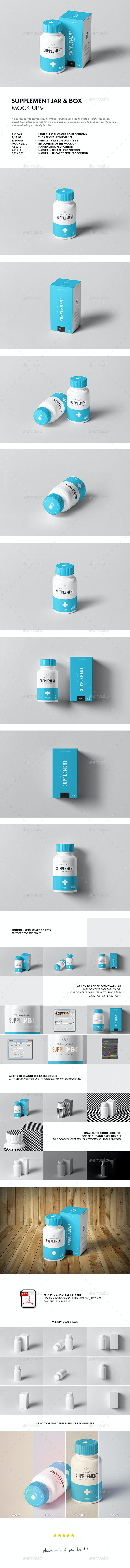 Supplement Jar & Box Mock-up 9 - Miscellaneous Packaging